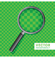 magnifying glass transparency on checkered green vector image