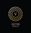 abstract luxury logo design template in trendy vector image