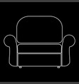 armchair the white path icon vector image