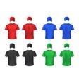 Basebal Cap And Tshirt Colored Sets vector image