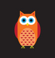 cartoon owl icon vector image
