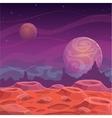 Fantasy alien landscape vector image