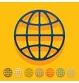 Flat design globe vector image