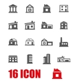 grey buildings icon set vector image