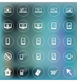 Set of icons for web and mobile Smartphone laptop vector image