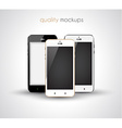 smartphone realistic collection set of elegant vector image