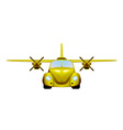 Taxi Retro flying car vector image