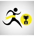winner silhouette sport trophy icon vector image