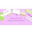 Wedding Planning Web Banner Preparations vector image