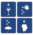 Water care icons composition vector image vector image