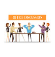 office discussion cartoon style vector image