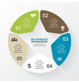 circle star infographic Template for diagram graph vector image vector image