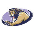 lion mascot scratching vector image vector image