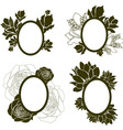 vintage frames with flowers vector image