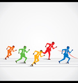 businessmen business race vector image