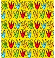Colorful tulip flowers seamless pattern vector image vector image