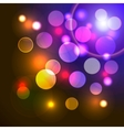 abstract background with shiny colored lights vector image