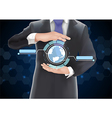 Businessman with globe vector image