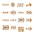 collection of different shaped sale notice boards vector image