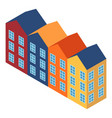 colorful house icon isometric style vector image