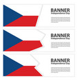 czech republic flag banners collection vector image