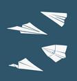 set of symbols paper airplane vector image