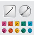 bone icon 2 vector image vector image
