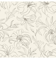 Seamless pattern with blooming lilies vector image vector image