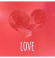 Love triangular heart card vector image vector image