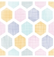 Abstract colorful honeycomb fabric textured vector image vector image