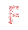 Romantic floral letter F vector image vector image
