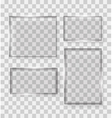 Glass Transparency Frame vector image vector image