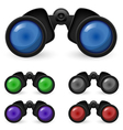 set of binoculars vector image