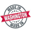 made in Washington red round vintage stamp vector image