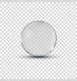 Big white transparent glass sphere ball with vector image