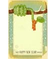 Christmas retro snake vector image