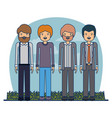 couple teacher profession people men with clothes vector image
