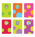 Cute birthday gift tags vector image