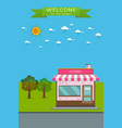 flat detailed shop vector image