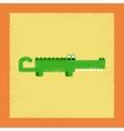 flat shading style icon cartoon crocodile vector image