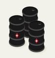 oil barrels isometric icon vector image
