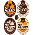 oval labels vector image