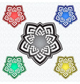 pentagonal logo template in celtic knots style vector image