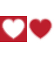 Red hearts with halftone effect isolated vector image