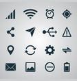 smartphone set ui icons vector image