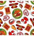Gastronomy seamless wallpaper background vector image