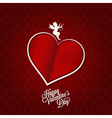 valentines day card happy holiday background vector image