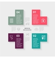 plus sign infographic Template for diagram vector image vector image