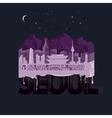 Night Seoul Typography vector image