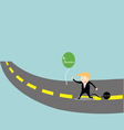 Businessman chasing success vector image vector image